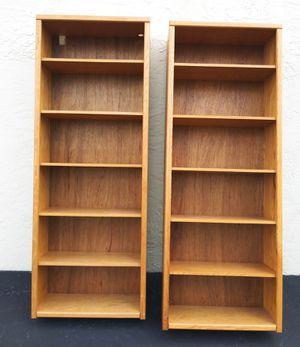 Pair of Wood Bookcases Bookshelves Shelves for Sale in Lake Worth, FL