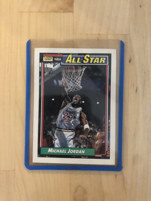 Jordan vintage topps 92' collectible card for Sale in Culver City, CA