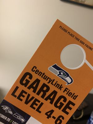 Seahawks game Parking pass for Sale in Shoreline, WA