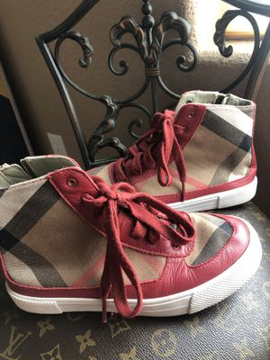 Burberry sneakers YOUTH for Sale in Clovis, CA