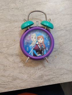 Blue Disney Frozen Lite Up Twin Bell Alarm Clock. for Sale in Strongsville,  OH