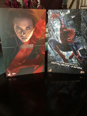 Hot toys Lot Avengers Black Widow and Amazing Spider-Man for Sale in River Forest, IL