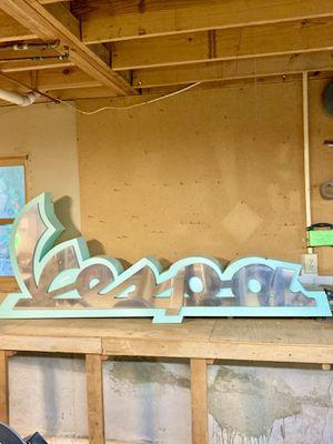Massive Metal Vespa Sign for Sale in Stone Mountain, GA