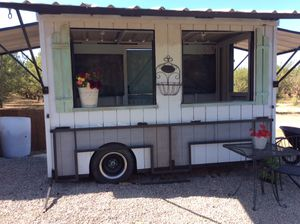 Shabby chic Mobile Cart/Bar/fruit stand for Sale in Ceres, CA