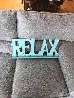 """""""RELAX"""" Decoration for Sale for Sale in Jersey City, NJ"""
