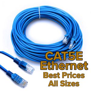10ft 20ft 30ft 40ft 50ft 60ft 70ft 80ft 90ft 100ft 100ft+ Custom Length CAT5e 1G / 1000Mbps CAT6 RJ45 Internet Cable Ethernet Network LAN Wireless Pa for Sale in Pasadena, CA