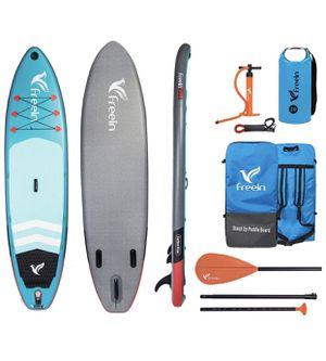 """Freein Explorer SUP Inflatable Stand Up Paddle Board ISUP 10'2''/11"""" Long 33"""" Wide with Sport Camera Mount Package for Sale in West Covina, CA"""