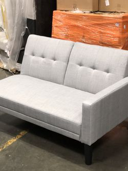 BRAND NEW BLUSH PINK BELVET GGREY LINENSOFA FUTON WITH USB POWER PLUG $149 for Sale in South Gate,  CA