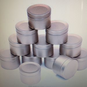 21 2oz aluminum round tin containers frosted gold for Sale in Los Angeles, CA