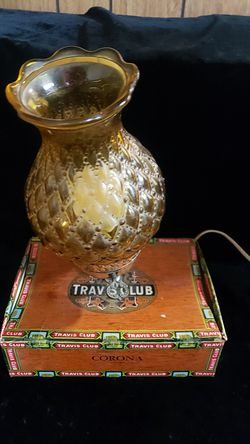 RARE VINTAGE TRAVIS CLUB CIGAR BOX LIGHT LAMP FINCK for Sale in Washington,  PA