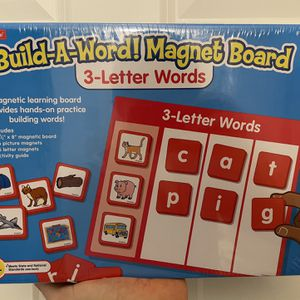 "Build A-Word! 10.5x8 Magnet Board (3 letter words), Brand new factory sealed! Ships out ASAP! Thanks for looking! Includes: 10.5x8"" magnetic board 3 for Sale in Atlanta, GA"