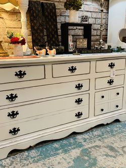 Refinished White Farmhouse Dresser for Sale in Bonney Lake,  WA