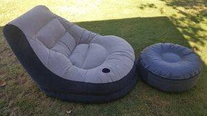 Find blow up chair with ottoman. In very good condition. for Sale in Fresno, CA