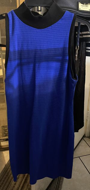 Joe boxer woman's size L preowned royal blue and black dress in excellent condition located off lake mead and jones area asking $5 for Sale in Las Vegas, NV