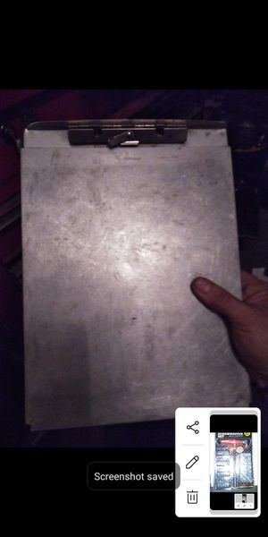 Metal clip board and paoer document case construction mechanic etc. for Sale in Long Beach, CA