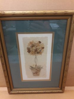 Vintage signed Topiary on papyrus paper -- framed for Sale in UPPR CHICHSTR,  PA
