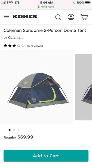 Camping Tent for Sale in Santa Maria, CA