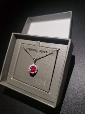 925 Sterling Silver Created Ruby ~~ Check my other items~~ for Sale in Lake Worth, FL
