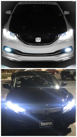 Ready for pick up LED headlights or fog lights for ANY car $25 for Sale in West Covina, CA