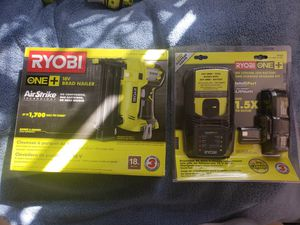 Ryobi nail gun and battery kit save!!! for Sale in Albuquerque, NM