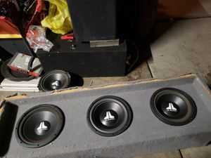 I have three JL audios in hey thin but thick box for Sale in Stockton, CA