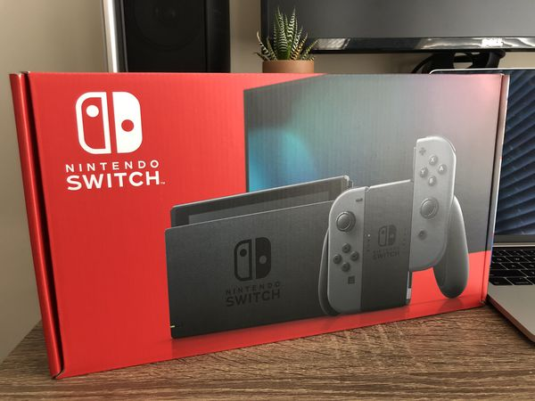New! Nintendo Switch Gray 32GB - Newest Version