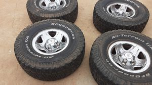 Wheels and tire for Ford ranger o jeep 95% life for Sale in Corona, CA