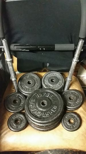 CHAMPS BARBELL LIGHTWEIGHTS EXCELLENT CONDITION for Sale in Langhorne, PA