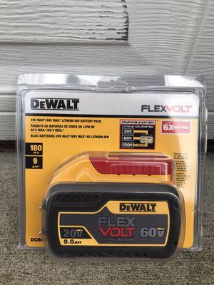 DEWALT FLEXVOLT 20-Volt /60-Volt MAX Lithium-Ion 9.0 Ah Battery Pack for Sale in Marysville, WA