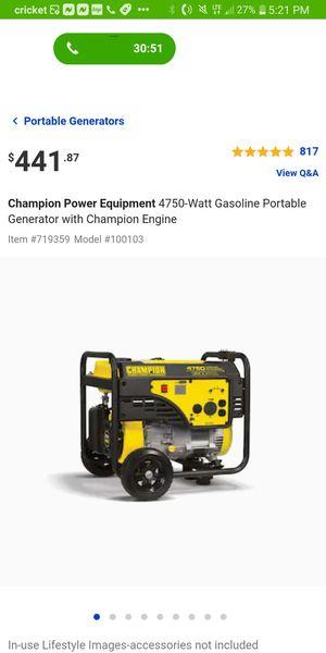 New 4750 watt Generator for Sale in Hollywood, FL
