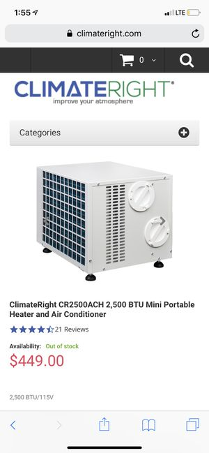 Climate right heating and AC unit like new only used 5 times ! for Sale in Mesquite, TX
