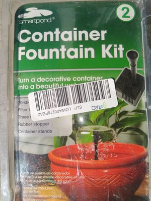 Container Fountain kit for Sale in Tulsa, OK