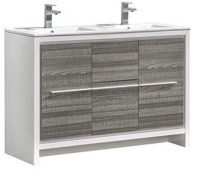 Fresca Allier Rio 48 inch Ash Gray Double or Single Modern Bathroom Vanity. for Sale in Los Angeles, CA