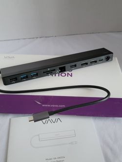 VAVA USB C Docking Station 12-in-1 USB-C Dock (Thunderbolt 3) with Dual HDMI 4K 60Hz, RJ45 Ethernet, 4 USB Ports, SD/TF Card Reader, 85W PD Charging, for Sale in Rowland Heights,  CA