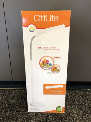 OttLite 24 Watt WingShade Floor Lamp. Brand New. Pick up at Gold and Pawn in Tacoma for Sale in Tacoma, WA