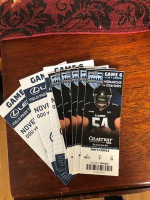 ODU football tickets for Sale in South Norfolk, VA