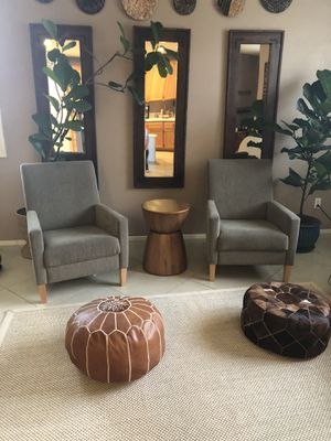Mid Century boho Arm Chairs looks New!!! for Sale in Fontana, CA