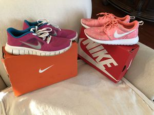 Nike running shoes sz 4.5 youth first pair and Sz. 4 youth second pair from first picture .. WOMEN'S for Sale in Modesto, CA