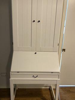 White IKEA secretary desk for Sale in Snohomish,  WA