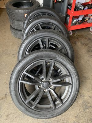 Mustang 2017 oem stock wheels 18' inches with pirelli tires for Sale in West Los Angeles, CA