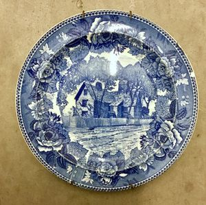 Turn of the century 1900 Antique plate showing House of 7 Gables, Salem Mass. Imported from England. for Sale in Los Angeles, CA