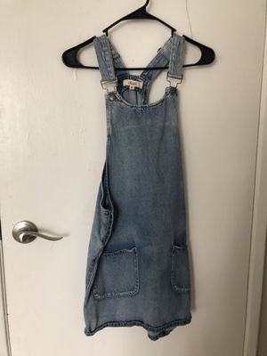 Denim overall dress for Sale in Union City, CA