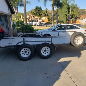 16' x 7' wide 7,000 LB. Trailer, great for your desert toys for Sale in Poway, CA