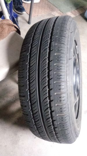 185/65/R14 4x100 steelie with federal tire for Sale in Las Vegas, NV