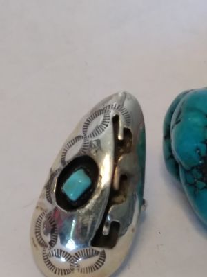 Navajo Sterling silver Turquoise ring size 6 for Sale in Willow Street, PA