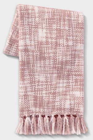 Marled Woven Throw Blanket Pink for Sale in Commerce, CA