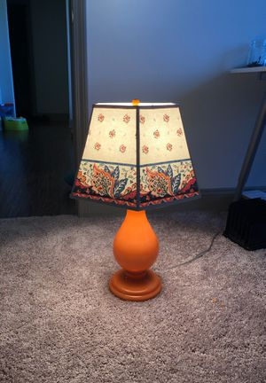 Antique Orange Lamp $15 for Sale in Graham, NC