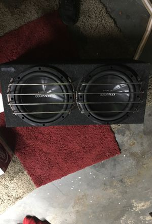 To Kenwood 12 inch subwoofers in sealed box and Kenwood thousand watt class D mono power amplifier And a JL audio XD 404 channel amp and a audio cont for Sale in Gahanna, OH