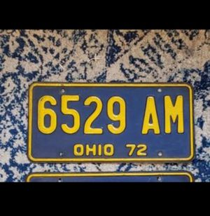 1972 Ohio license plate for Sale in Columbus, OH