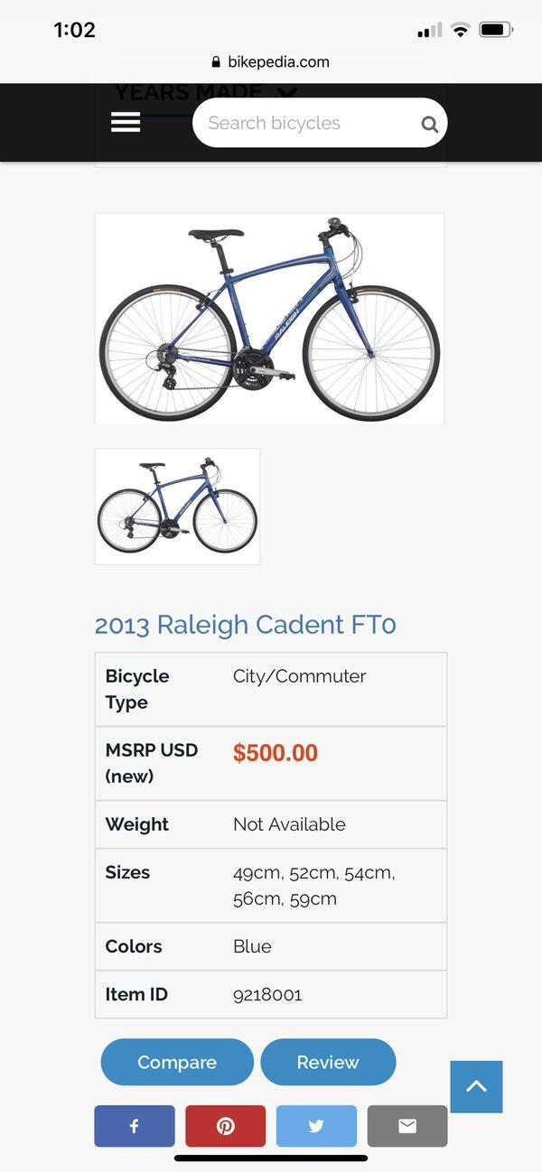 Raleigh Cadent FT0 Hybrid Flatbar Road Bike Bicycle
